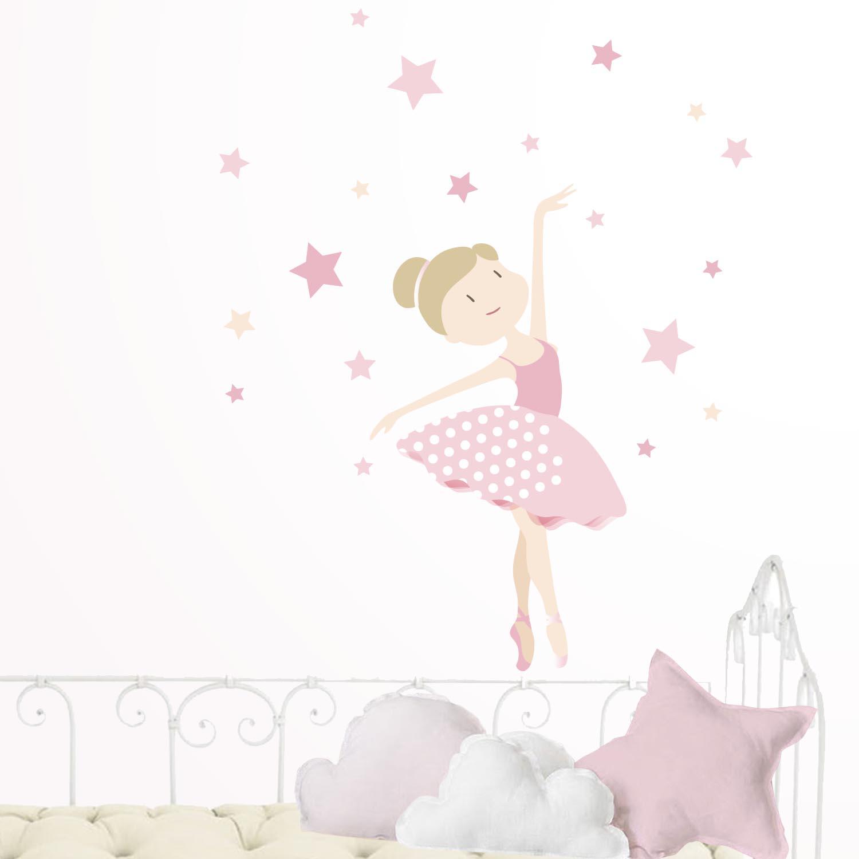 50-vinilo-bailarina-estrellas-rosa