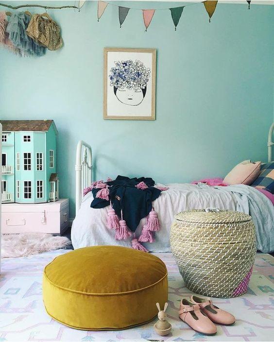 10 Habitaciones infantiles con cestas de mimbre