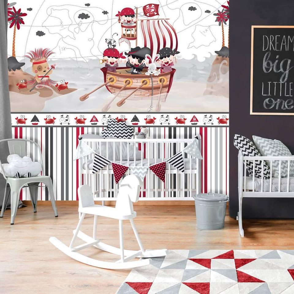 Decorar los espacios infantiles con los murales y papeles pintados de Lyta