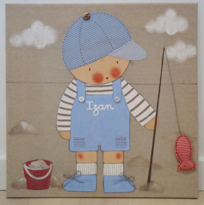 Los mejores cuadros infantiles pintados a mano - Telas con motivos infantiles ...