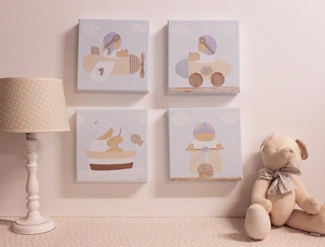 Los mejores cuadros infantiles pintados a mano - Cuadros habitacion infantil ...