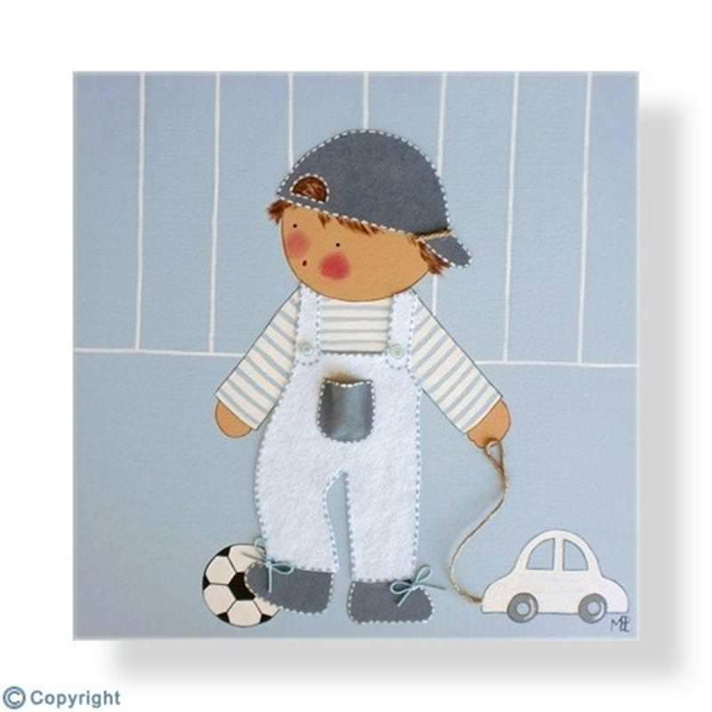 Los mejores cuadros infantiles pintados a mano - Cuadros habitaciones infantiles ...