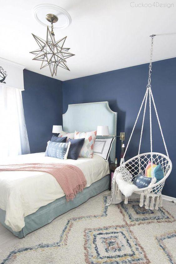 Habitación azul para chicas
