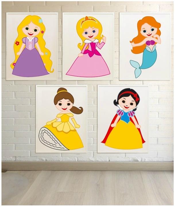 Láminas de Princesas para habitaciones infantiles