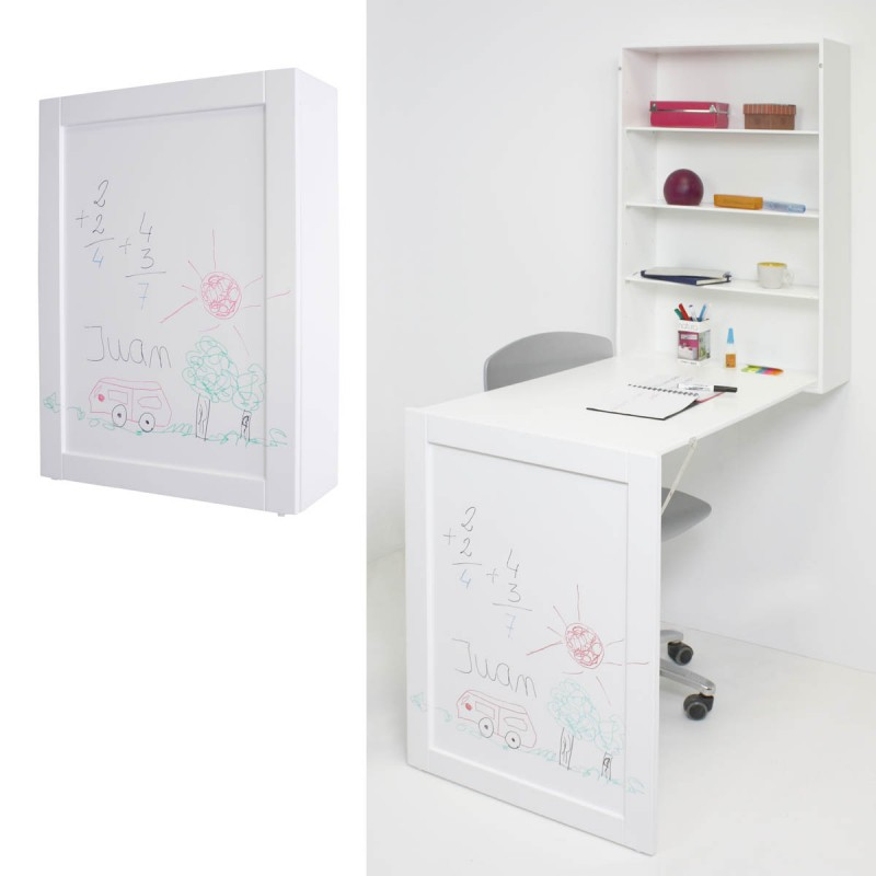 Escritorio de pared plegable decoraci n infantil - Mesas de estudio plegables ...