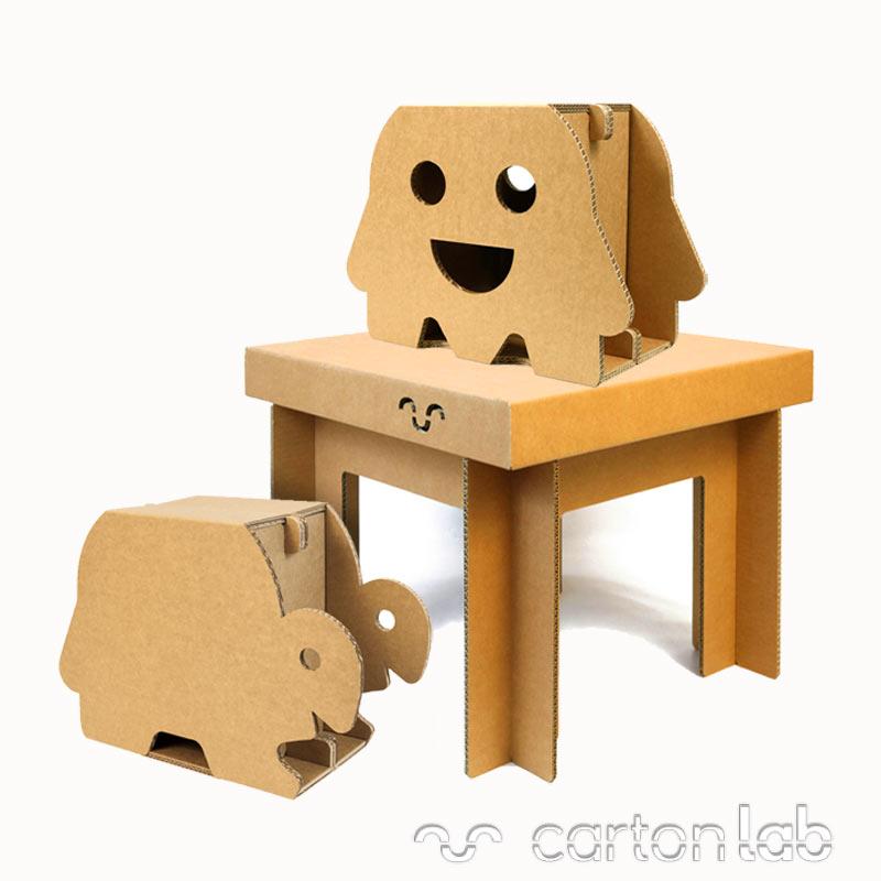 Muebles de cart n para ni os decoraci n infantil - Carton para muebles ...