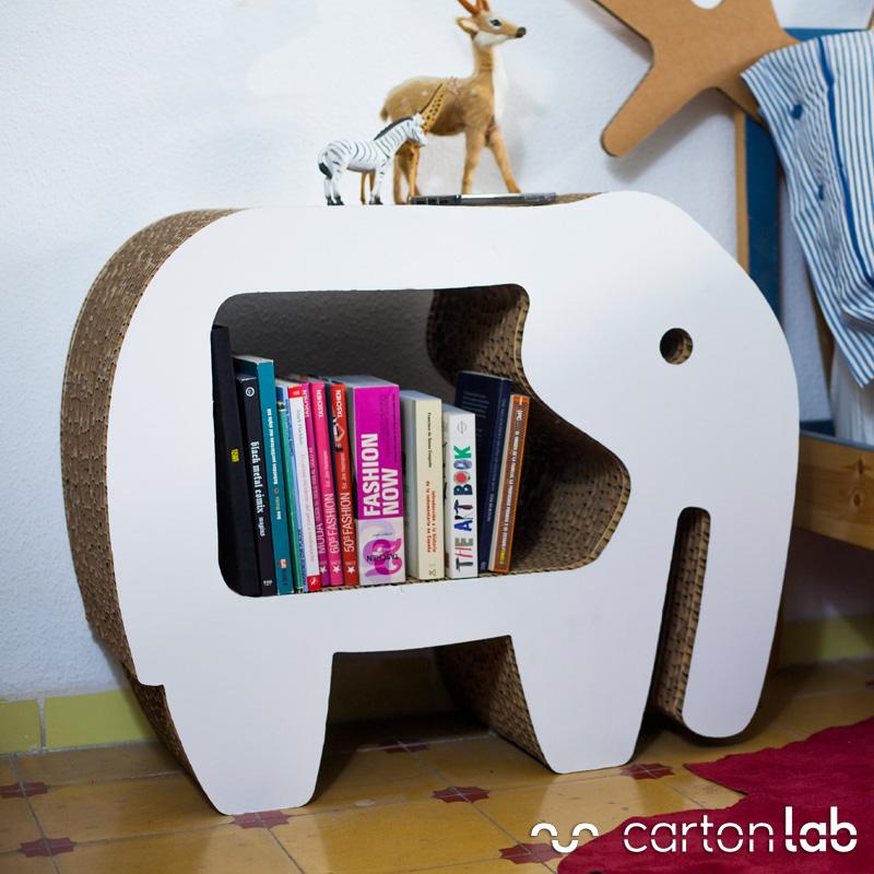 Muebles de cart n para ni os decoraci n infantil for Hacer muebles con carton