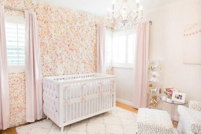 Flores para decorar la habitaci n del beb - Decorar habitacion bebe nina ...