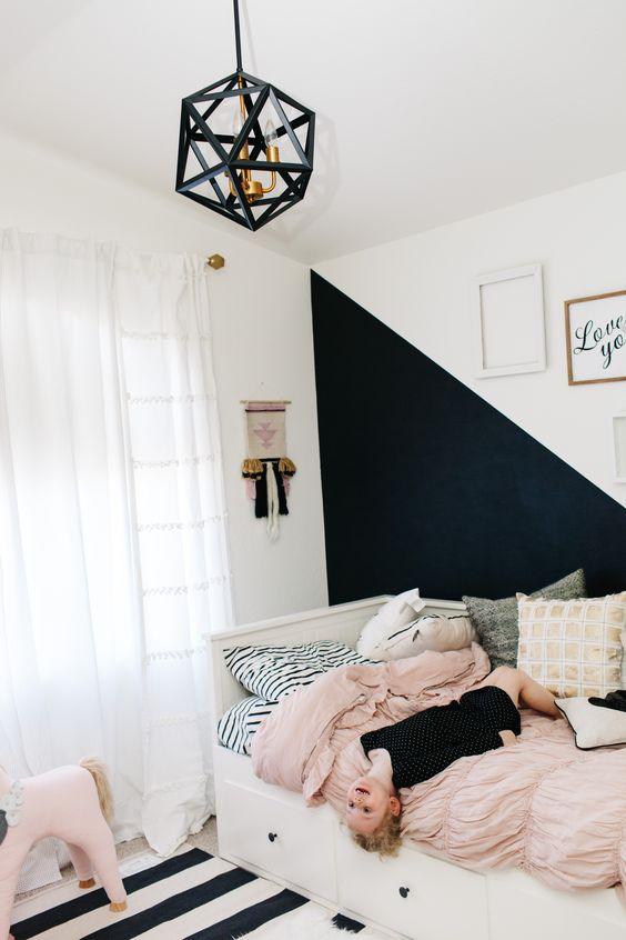 10 habitaciones juveniles con paredes geom tricas - Habitaciones juveniles con estilo ...
