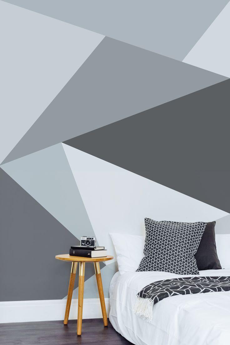10 habitaciones juveniles con paredes geometricas - Habitaciones juveniles con estilo ...