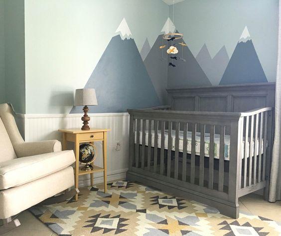 Rustic Baby Boy Nursery Grey
