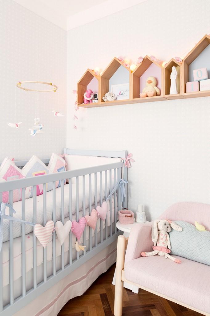 Habitaci n de beb en colores pastel - Habitaciones de bebe ...
