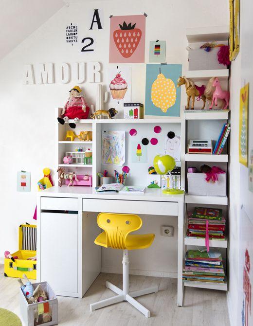 Zona de estudio ikea decoideas net - Mesa de libro para salon ...