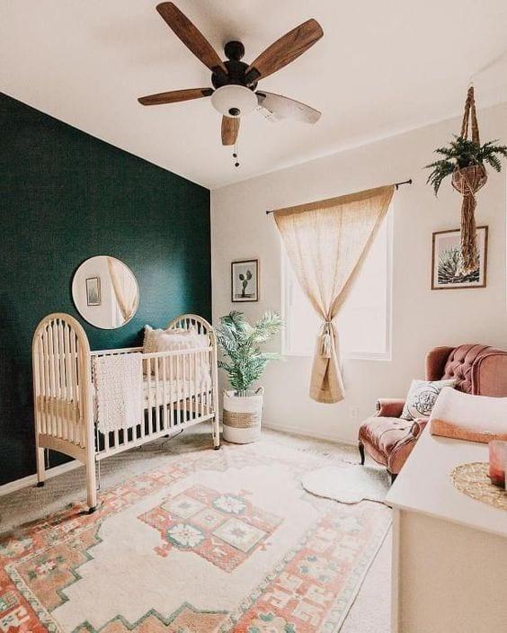 Espejo redondo habitación bebé