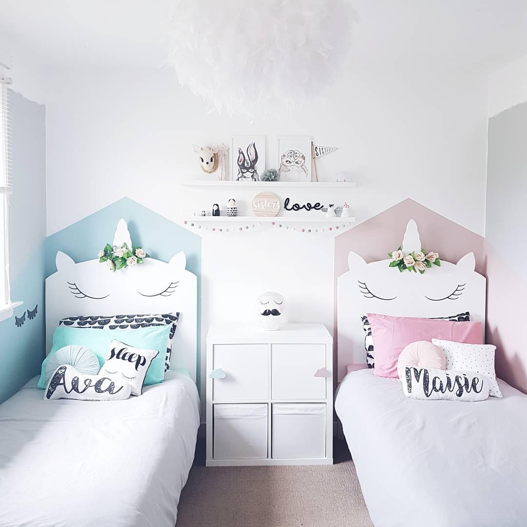 Fant stica habitaci n tem tica unicornios - Decoracion cuarto infantil nina ...