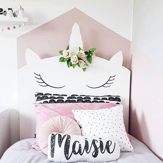 Fant stica habitaci n tem tica unicornios for Decoracion para la pared de unicornio