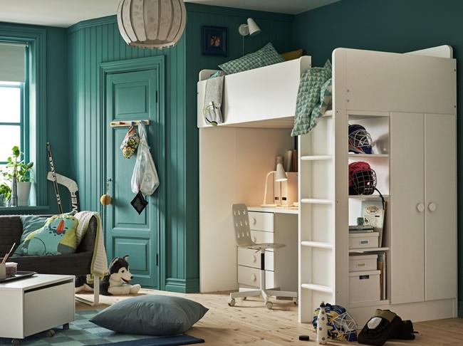 Inspiraci n dormitorios juveniles ikea 2018 - Habitaciones pequenas ikea ...