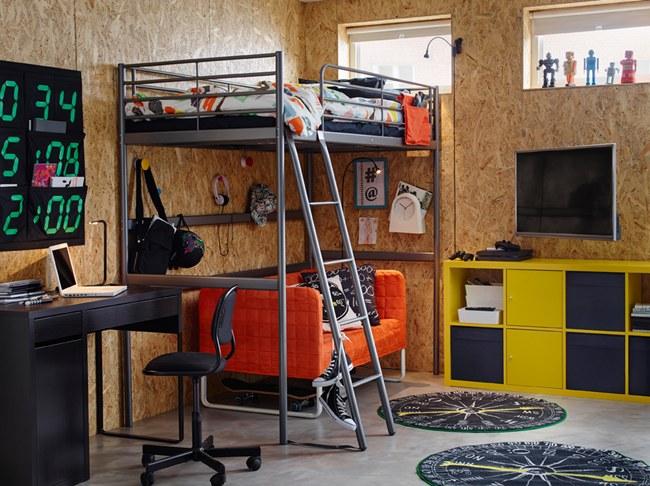 Inspiraci n dormitorios juveniles ikea 2017 decoideas net - Muebles habitacion juvenil ikea ...