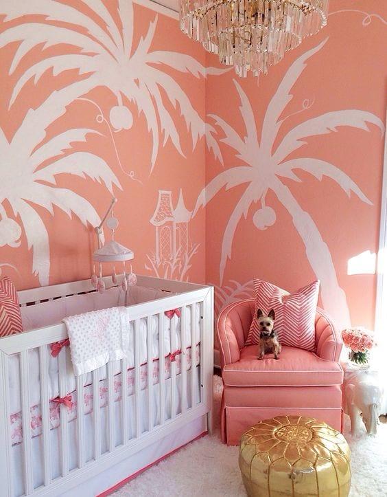 Pantone 2019 Living Coral habitaciones de bebés