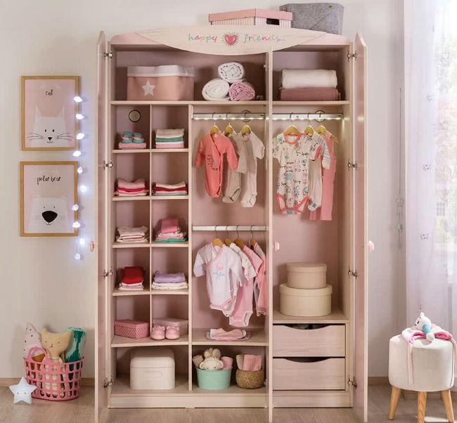 Baby girl muebles para habitaci n de beb ni a decoideas for Armario habitacion nina