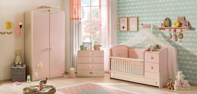 Baby girl muebles para habitaci n de beb ni a vitabelia - Muebles para cuarto de nina ...