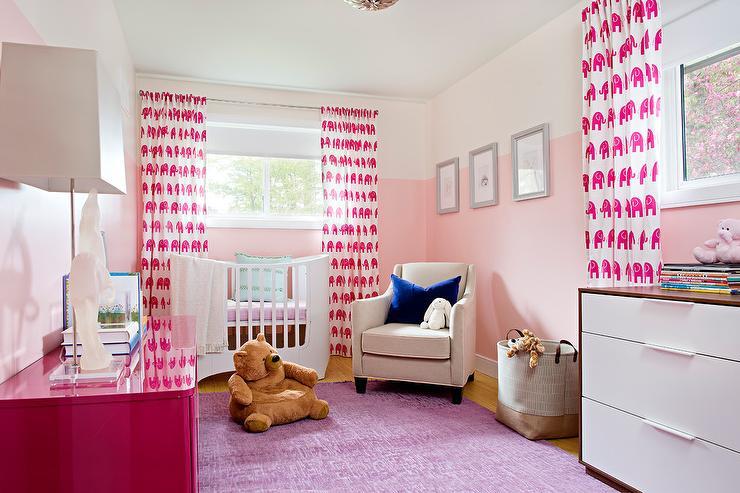 Ideas para pintar la habitación del bebé en dos colores