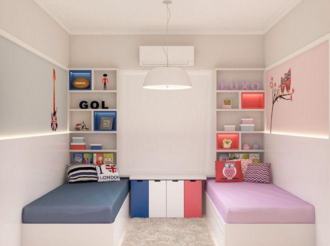 Ideas para decorar habitaciones compartidas por niño y niña
