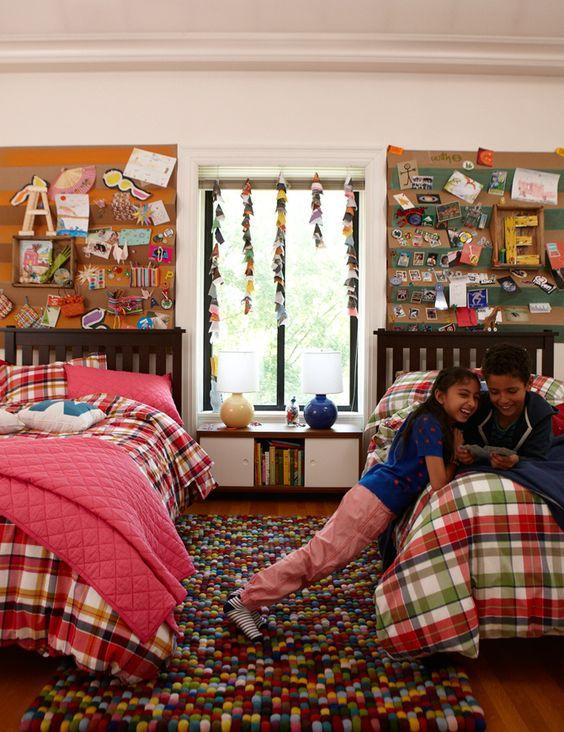 Habitación para dos niño y niña