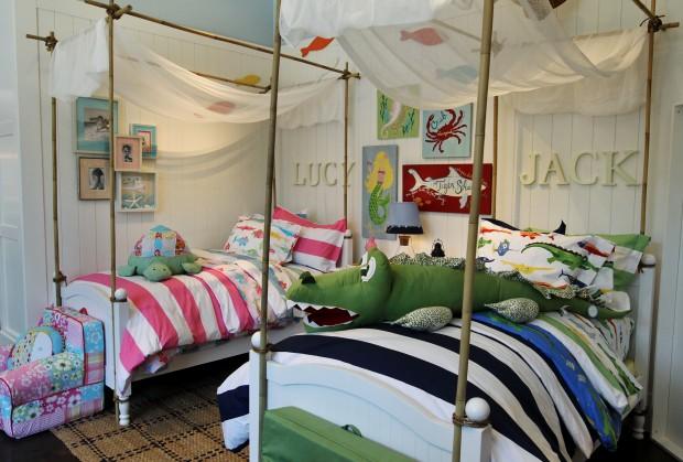 Imágenes de habitaciones compartidas por niño y niña