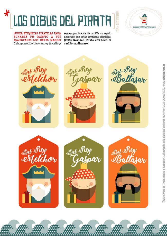 Etiquetas Reyes para imprimir gratis