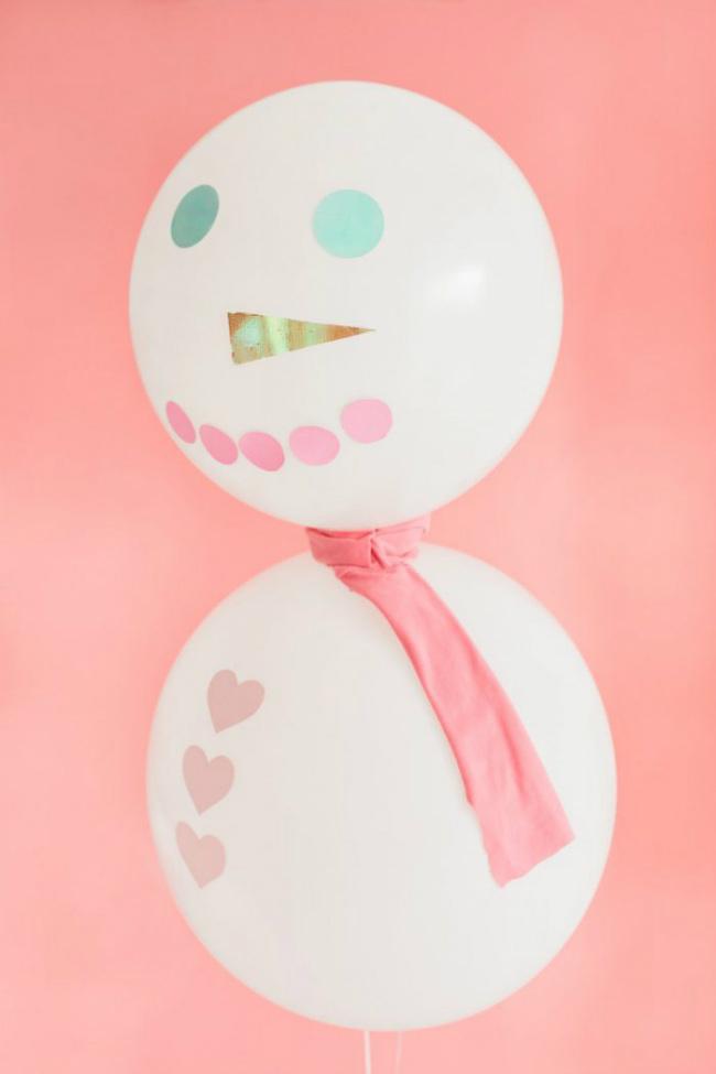 manualidades de navidad con globos