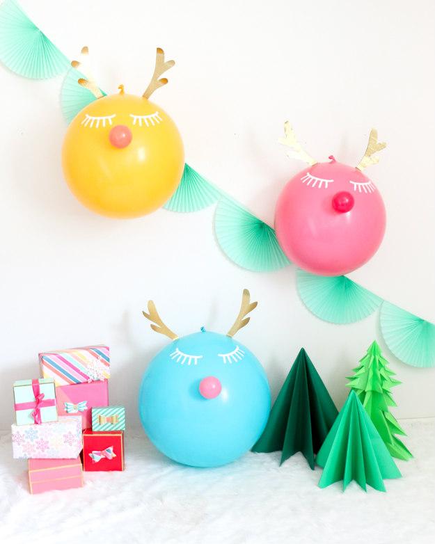 Manualidades de Navidad con globos DECOIDEASNET Ideas de
