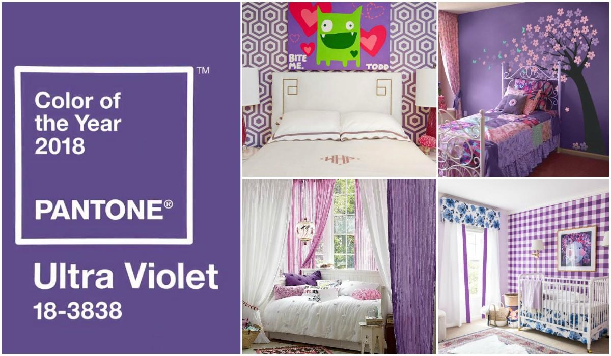 Color del año Pantone 2018 Ultra Violet, Habitaciones infantiles