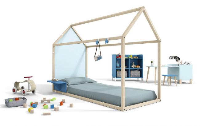 Cama casita de Ros, cama Montessori