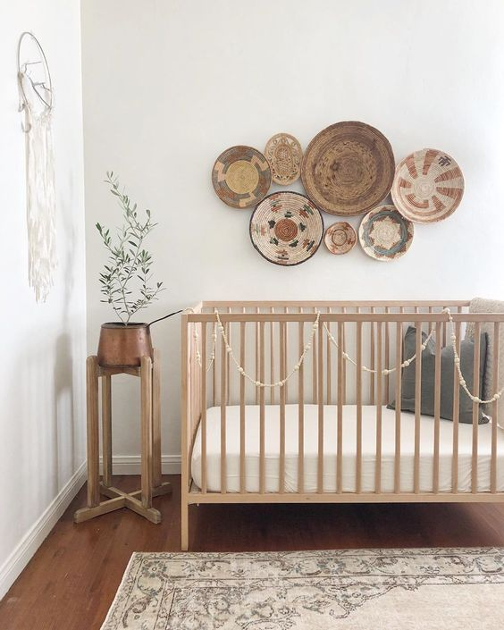 Cuna madera bebé Boho