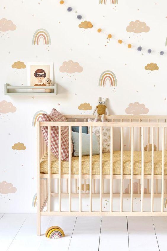 Papel pintado habitación bebé