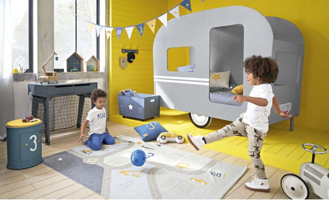 cama caravana para niños