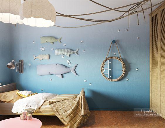 Habitación infantil marinera