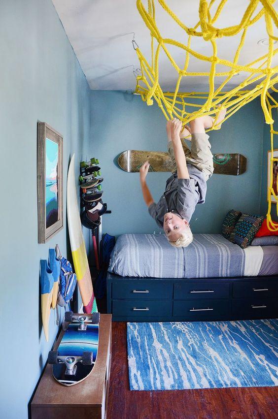 Habitaciones infantiles azules para chicos