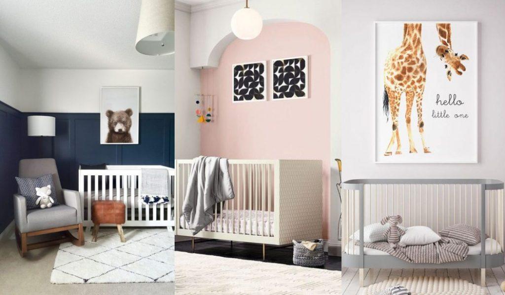 Colores para habitaciones de bebés 2018