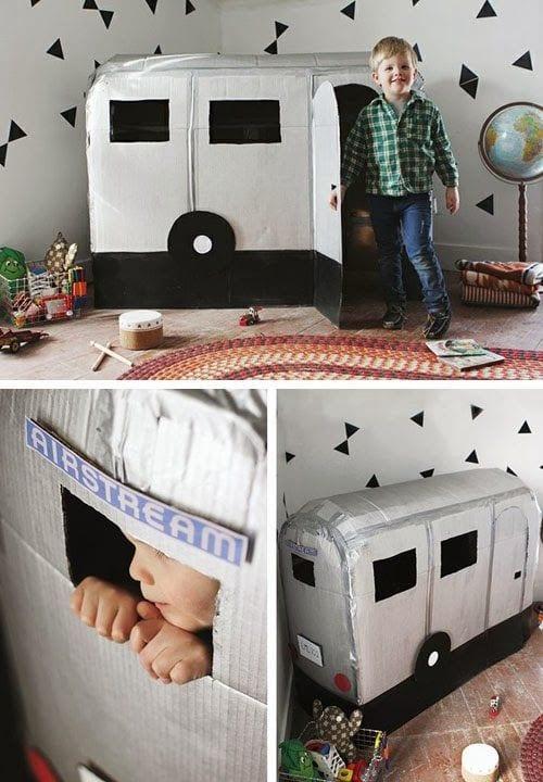Manualidades infantiles con cajas de cartón