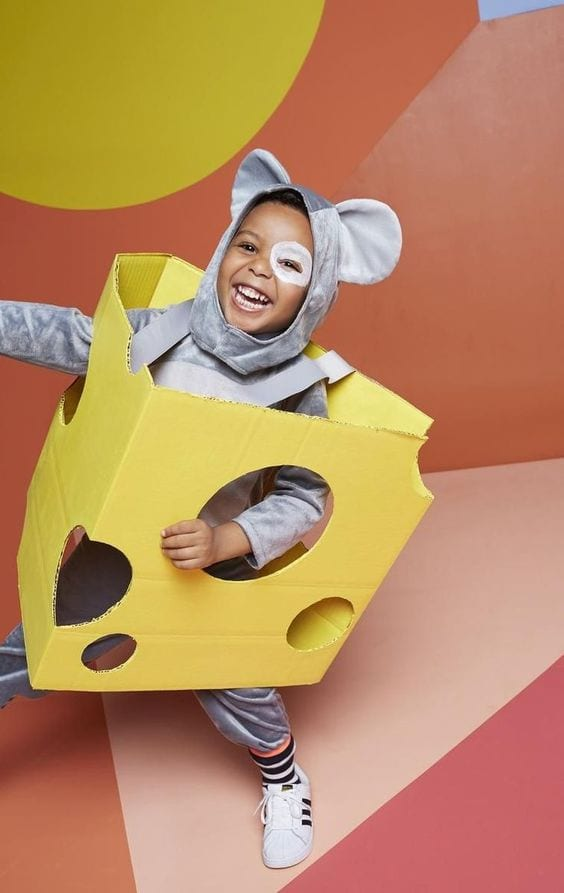 Manualidades infantiles con cajas de cartón: disfraces