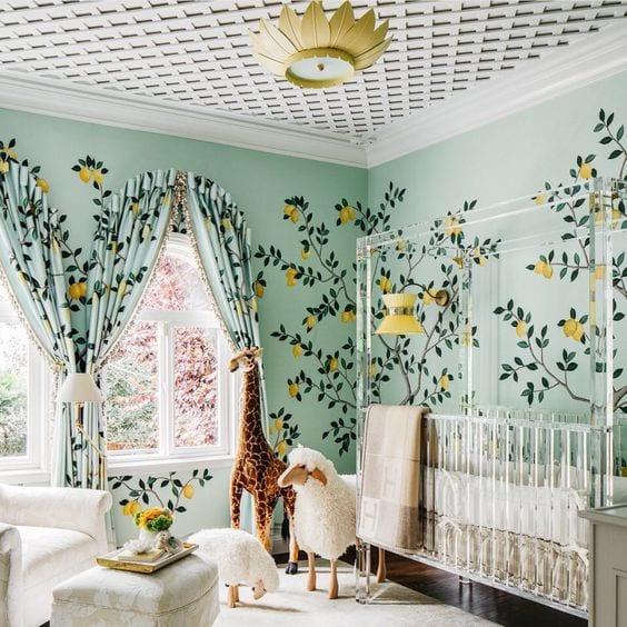 Verde mint para el cuarto del bebé