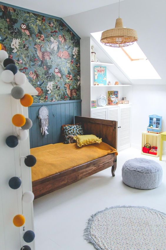 Dormitorios vintage para niños