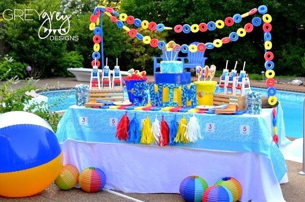 Fiestas infantiles al aire libre: en la piscina