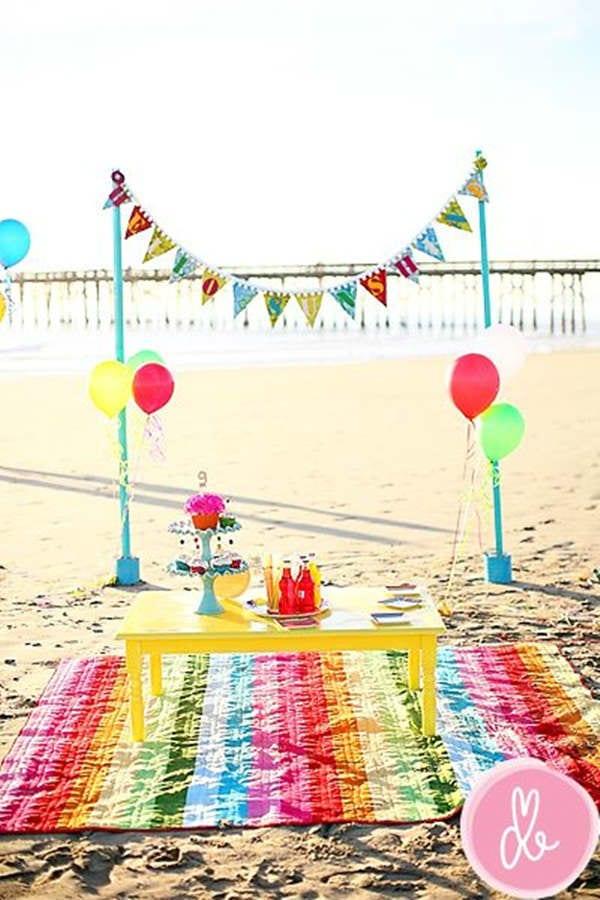 Cumpleaños en la playa para niños