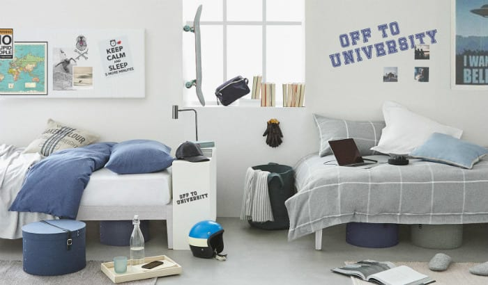 Decorar la habitación para la Universidad con Zara Home