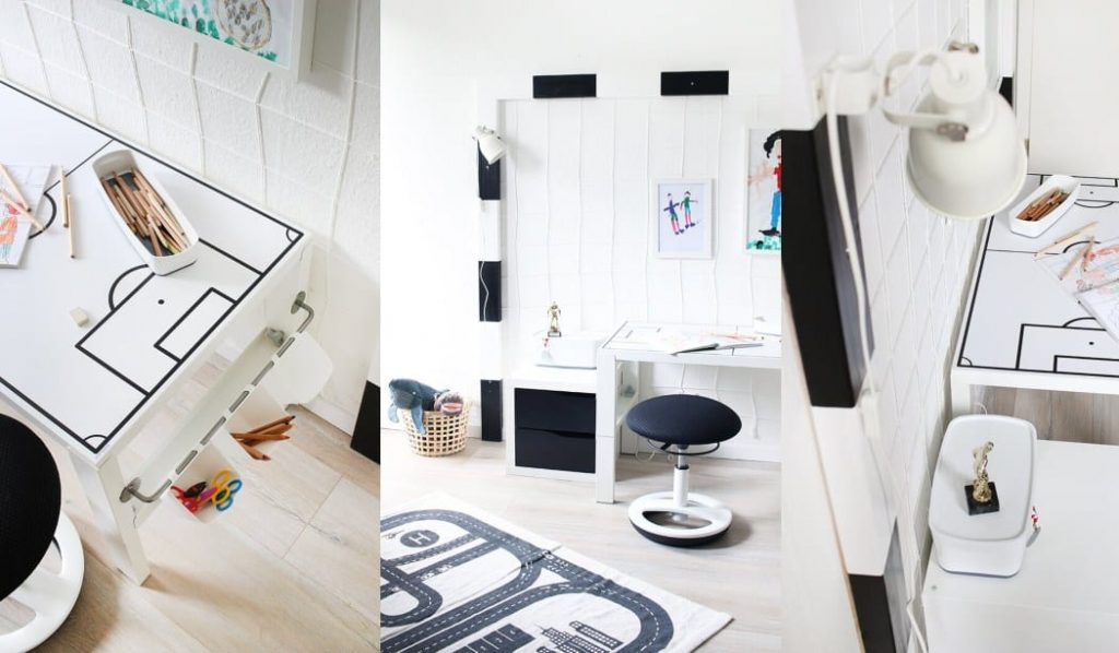 Ikea hack escritorio para ni os pahl diy decoraci n f tbol for Escritorios para ninos ikea