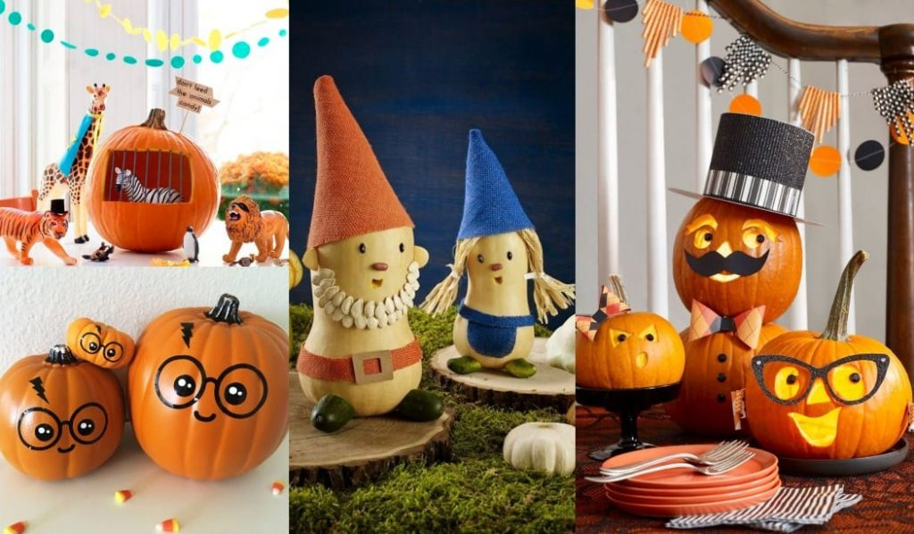 Decorar calabazas Halloween infantil