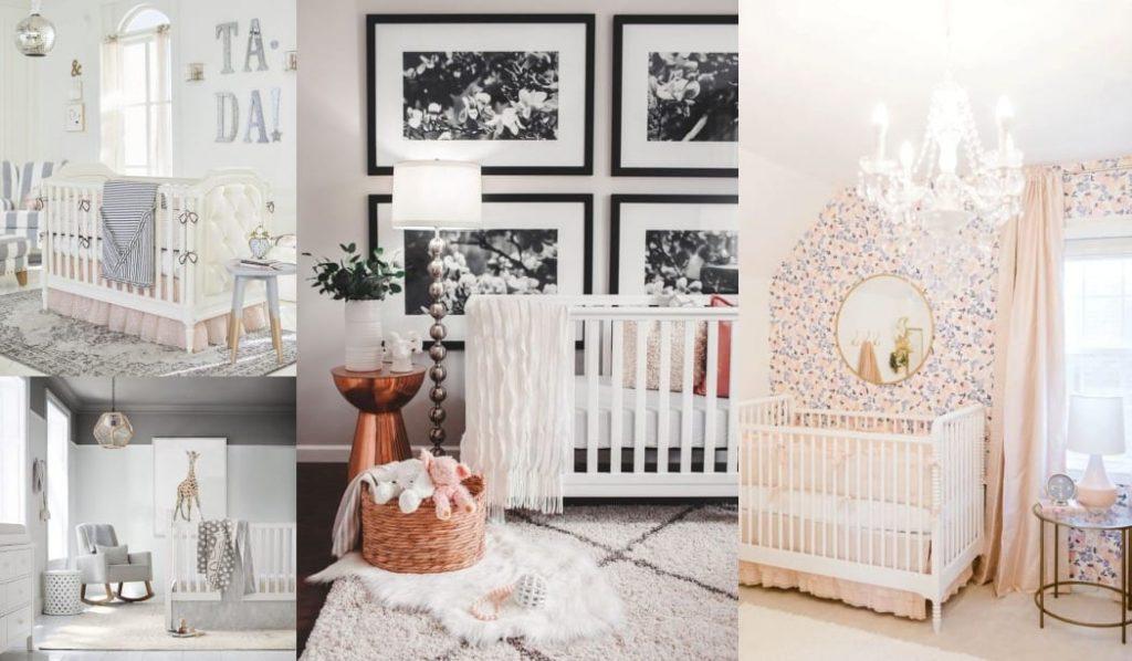 Mesas auxiliares en la habitación del bebé